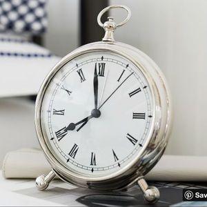 Pottery Barn pocket watch clock nickel medium